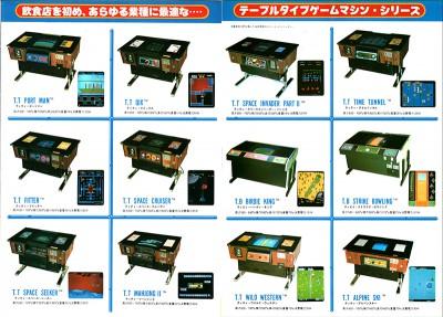 タイトー「TVゲームマシン'82総合カタログ」チラシ