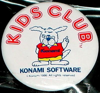 コナミ「キッズクラブ」缶バッジ
