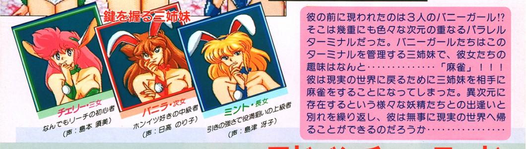 ニチブツ/日本物産「麻雀バニラシンドローム」PCエンジン版チラシ